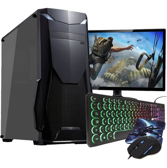 Pc Gamer Completo I5 8gb Hd 1tb R5 230 Hdmi Wifi C/ Monitor