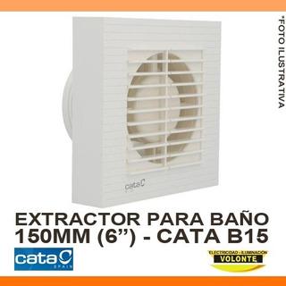 Extractor De Baño Cata B15 - Blanco - Standard - 150mm