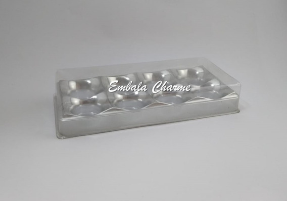 Caixa Brigadeiro Gourmet Embalagem Doces 6 Cavidades -40unid