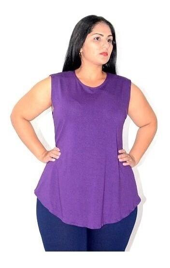 Blusa Camiseta Regata Academia Feminina Moda Evangélica Plus Size