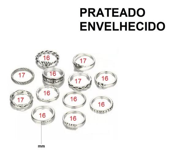 Conjunto Com 12 Modelos Diferentes De Anéis