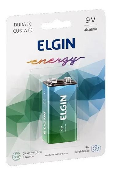 Kit 5 Pilhas 9v Alcalinas Elgin