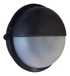 Tortuga Pvc Redonda Unidireccional Exterior Negra E27 Led
