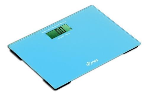 Imagen 1 de 2 de Balanza Personal Turquesa  Be201 Silfab Max 150 Kg