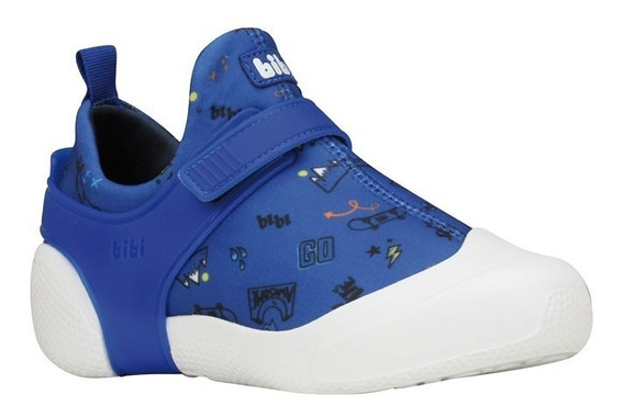 Tênis Infantil Bibi Masculino Azul Estampado 2way