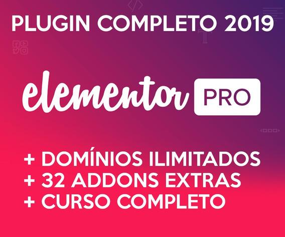 Plugin Elementor Pro + 32 Addons + Curso Completo 2019