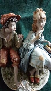 Figura De Porcelana Capodimonte, Firmada