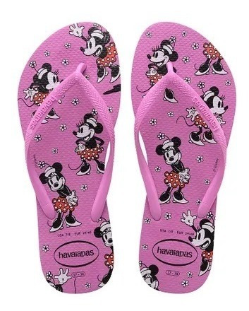 Havaianas Slim Disney Minnie Ice Pink