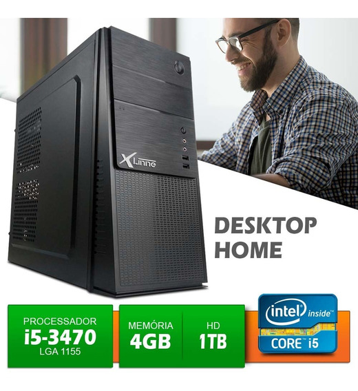 Desktop 1155 I5 3470 Ddr3 4gb Hd 1 Tera Home X-linne