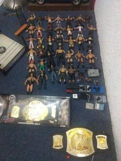 Figuras Wwe Jonh Cena, Tripleh, Reymisterio, Cinturonraw