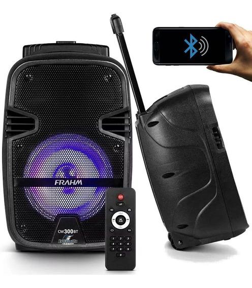 Caixa De Som Amplificada Portátil Cm 300 Bateria Bluetooth