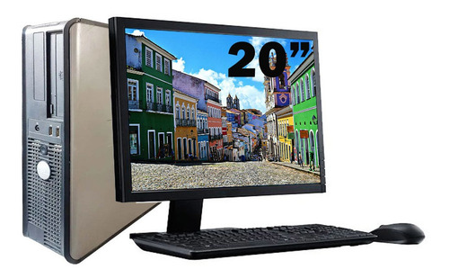Imagem 1 de 6 de Cpu Dell Optiplex 755 Core 2 Duo 4gb Ddr2 320gb + Monitor
