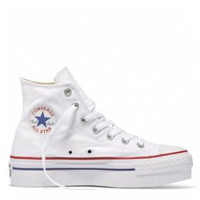 Tênis All Star Chucky Taylor Platform Branco Marinho