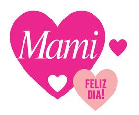 Cartel Vinilo Decorativo Vidriera Día De La Madre Corazones