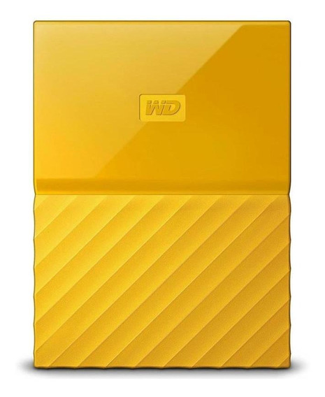 Hd Externo 1tb 2.5 Wd My Passport Usb 3.0 Amarelo