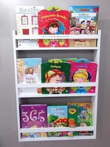 Estante Porta Revistas Infantil Livros E Decoração Montado