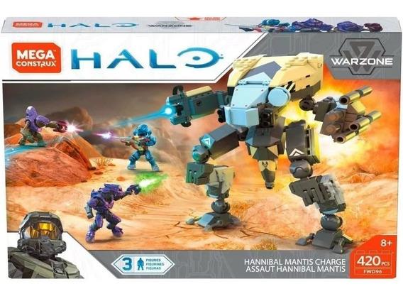 Mega Construx Fwd96 Halo Hannibal Mantis Charge C/ 3 Figuras