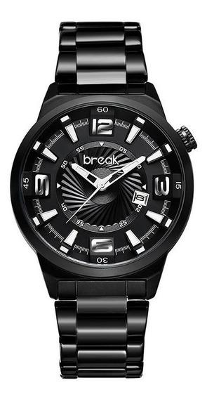 Relógio De Pulso Break Estilo Calendário Luxo Frete Grátis