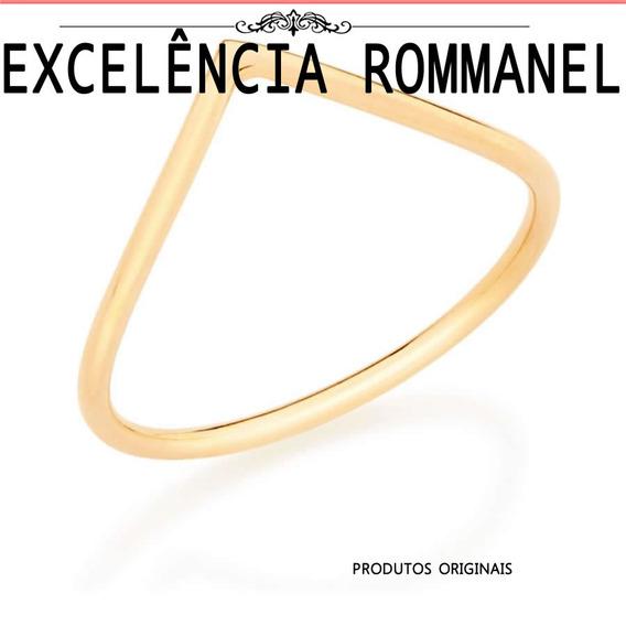 Anel Skinny Ring Formado Aro Fino Rommanel 512449