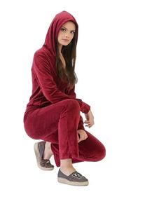 C/3 Conjunto Feminino Plush Calça E Blusa Frio Moletom
