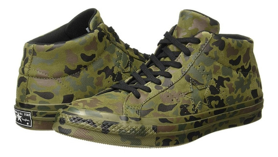 Converse En Piel Media Bota Camuflaje Mid Herbal Collard