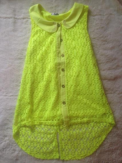 Blusa Verde Fosforecente Talla M