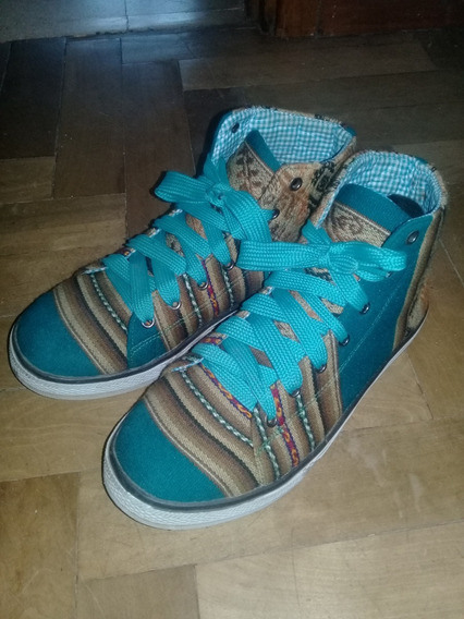 Zapatillas Botitas Tejidas