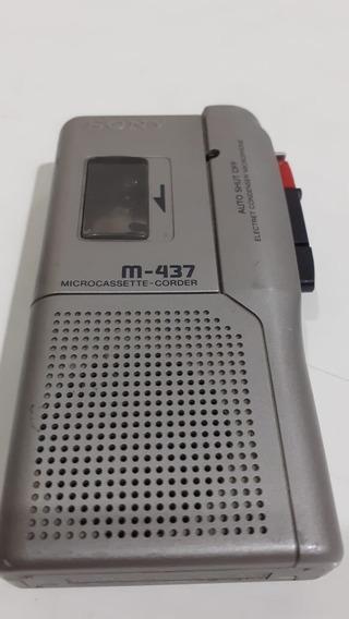 Sony Microcassette Gravador M-437 Venda No Estado Defeito