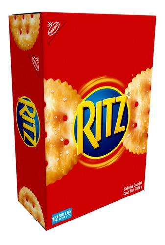 Imagen 1 de 1 de Galleta Ritz Caja Con 12 Rollos De 89g