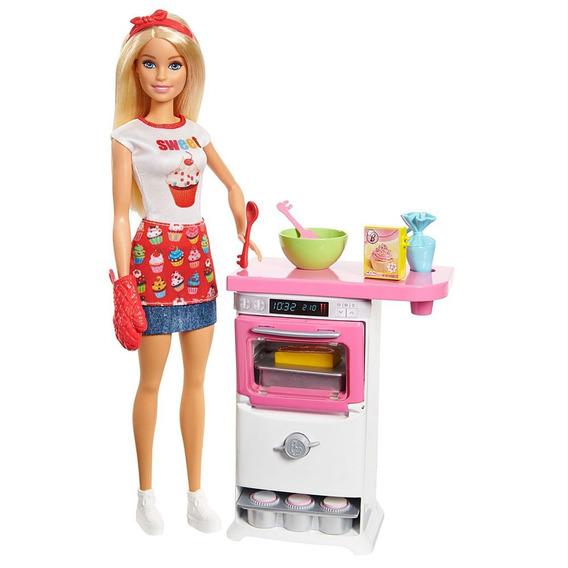 Boneca Barbie - Cozinhando E Criando - Chefe De Bolinhos - M