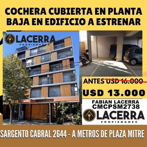 Imagen 1 de 3 de Cochera Cubierta Planta Baja. A Metros De Plaza Mitre