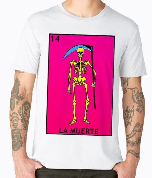 Playeras Cleen Alexer Loteria La Muerte Cultura Mexica Mod14