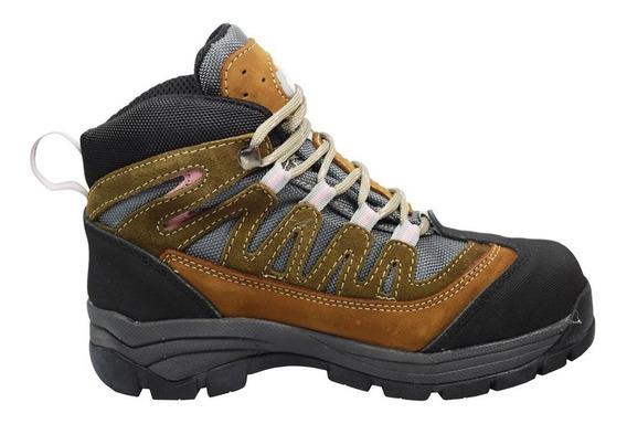 Zapatos Mujer Piel Estilo Bota Corta 3-362 Berrendo