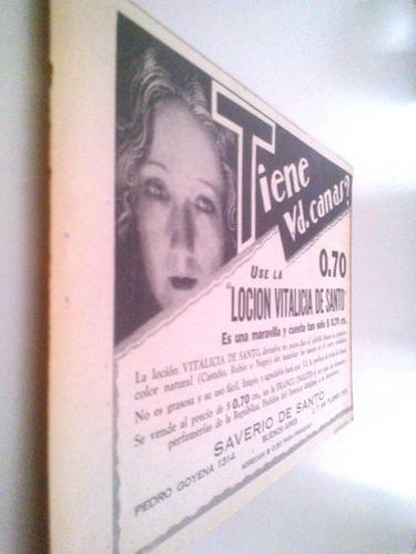 Antigua Publicidad Locion Vitalicia De Santo Clipping 1920s
