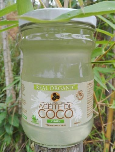 Aceite De Coco 1lt, Gourmet, Real Organic, Delivery Incluido