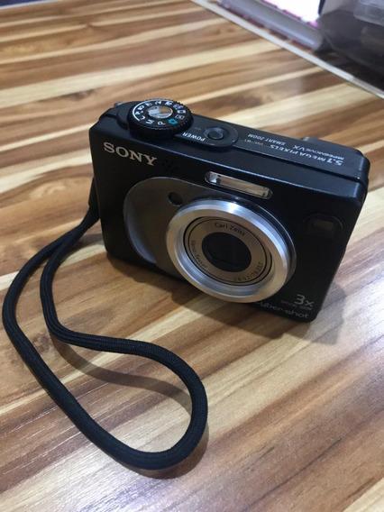 Câmera Sony W1 Usada, Com 02 Defeitos + Acessórios.