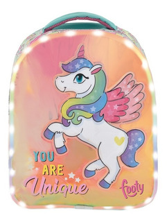 Mochila De Espalda Footy Unicornio Con Luz Led 14