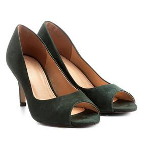 18ffd39595 Peep Toe Verde Escuro - Sapatos no Mercado Livre Brasil