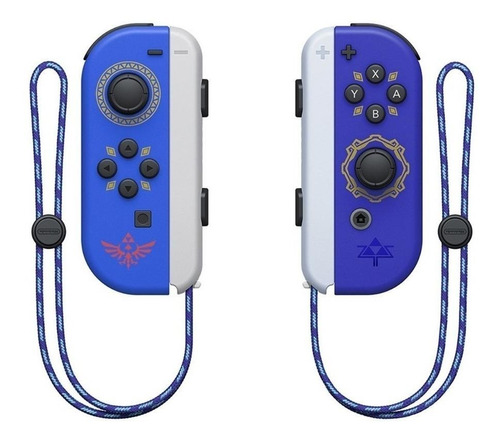 Imagen 1 de 2 de Set de control joystick inalámbrico Nintendo Switch Joy-Con (L)/(R) the legend of zelda skyward sword hd edition