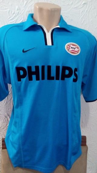 Camisa Psv Eindhoven Oficial - Nike G - 2001/2002 Azul