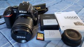 Câmera Nikon D5500 + 18-55mm + Bateria Extra + 16gb + Bolsa