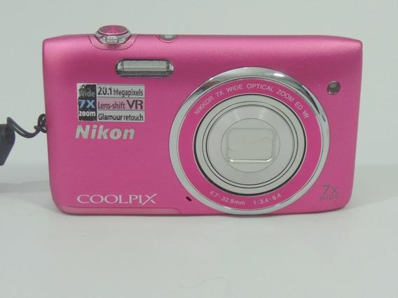 Camera Digital Nikon Coolpix S3500 20mp Barata + Brindes