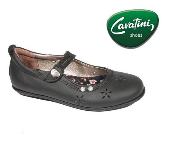 Sandalia Cavatini 10-0384 - Flor Negro - Gacela Calada