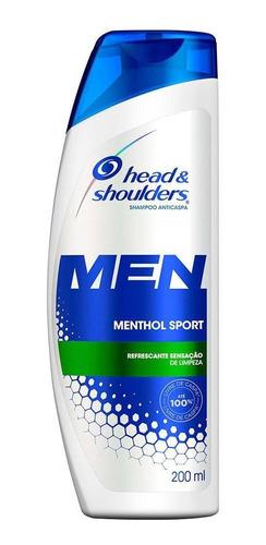 Shampoo Head&shoulders Anticaspa Menthol Masculino 200ml
