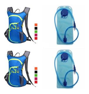 2x Mochila Trekking De Hidratación+ Bolsa Agua 2lt, Ciclismo