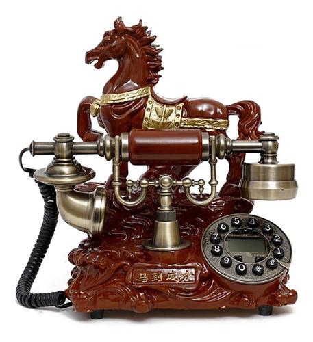 Vintage Antique Retro Auricular Escritorio Madera Teléfono C