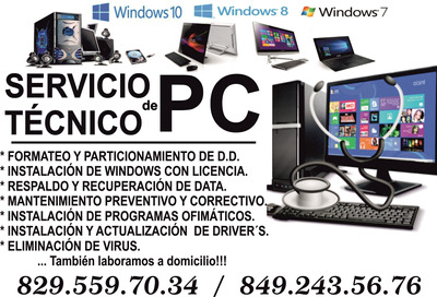 Servicio Y Reparación De Pc Y Laptos (técnico Venezolano).