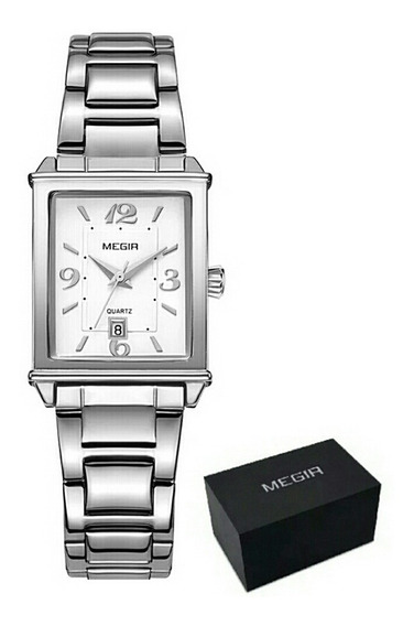 Relógio Feminino Analógico Megir 1079 Pulseira D Aço