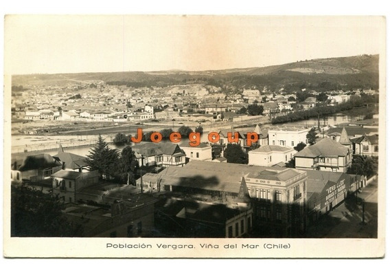 Antigua Postal Poblacion Vergara Viña Del Mar Chile