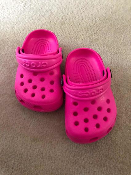 Vendo Crocs Originales Color Fucsia Para Beba
